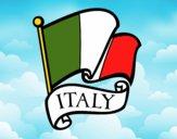 Dibujo Bandera de Italia pintado por dargumball