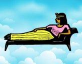 Cleopatra tumbada