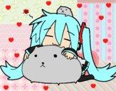 Miku con gatitos