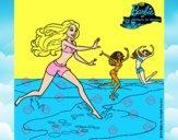 Barbie de regreso a la playa