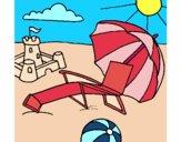 Dibujo Playa pintado por mucho