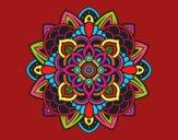 Dibujo Mandala decorativa pintado por olgablanco