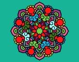 Dibujo Mandala reunión pintado por olgablanco
