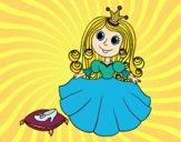 Princesa y zapato de cristal