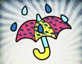 Paraguas abierto