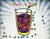 Un vaso de refresco