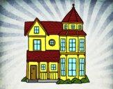 Dibujo Casa señorial clásica pintado por guemes364