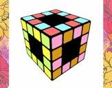 Dibujo Cubo de Rubik pintado por Lucia626
