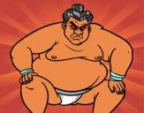 Dibujo Luchador de sumo furioso pintado por Angelito13
