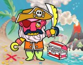 Pirata con tesoro