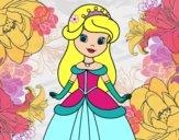 Dibujo Princesa bella pintado por abineyra