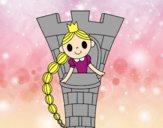 Rapunzel en la torre