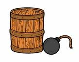 Dibujo Pólvora y bomba pirata pintado por Archos799