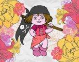 Una niña pirata