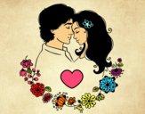 Dibujo Amor perfecto pintado por yussette
