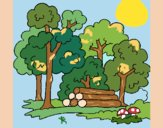 Dibujo Bosque 2 pintado por JOSEMG