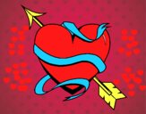 Corazón con flecha III
