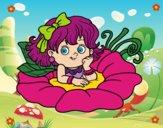 Hada sobre una flor