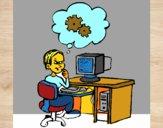 Informático pensando