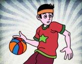 Dibujo Jugador de básquet junior pintado por JOSEMG