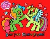 Dibujo Mejores Pony Amigas para siempre pintado por stocn