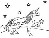 Unicornio mirando las estrellas