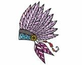 Corona de plumas india