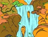 Dibujo Cascada pintado por mariacorte