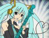 Miku con guitarra