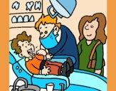 Dibujo Niño en el dentista pintado por mariacorte