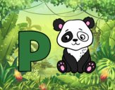Dibujo P de Panda pintado por NMA77