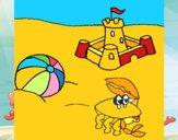 Dibujo Playa 2 pintado por mafarias