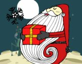 Santa con regalo