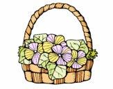 Dibujo Cesta de flores 6 pintado por panduaum