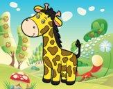 Una jirafa