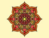 Mandala flor de fuego