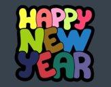 Dibujo Feliz año nuevo pintado por Ferchob