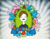 Dibujo I love Dad pintado por Osiita