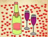 Champán y copas