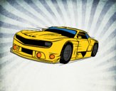 Dibujo Coche deportivo rápido pintado por Joer