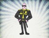 Policía duro