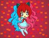 Dibujo SeeU Chibi Vocaloid pintado por DuoKeksYT