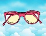Dibujo Gafas de pasta redondas pintado por Juice