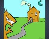 Dibujo Los tres cerditos 8 pintado por lina200714