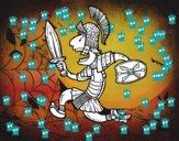 Soldado romano atacando