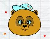Dibujo Cara de oso panda con gorro pintado por sheyla1