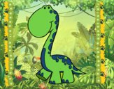 Dibujo Dino pintado por Joddy