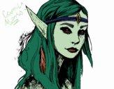 Dibujo Princesa elfo pintado por CamuAlonso