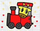 Tren con jirafa