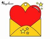 Carta con corazón
